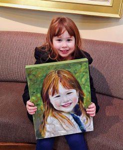 Taylor's portrait by Dr. Mancuso